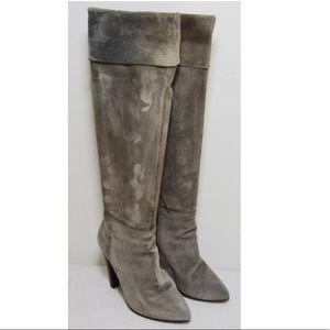 Prada Miu Miu Gray Suede Boots